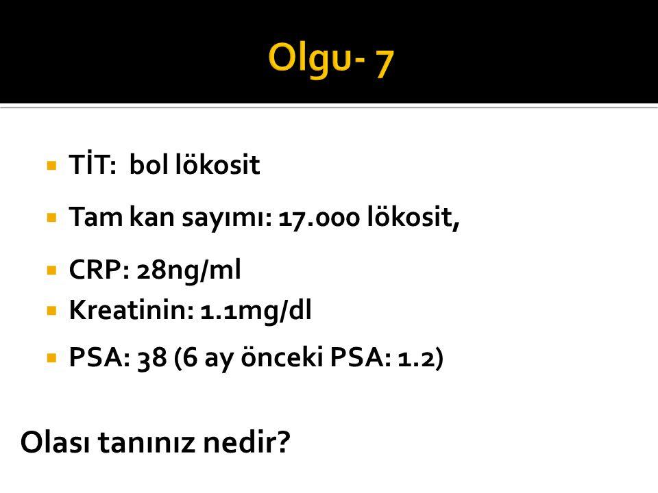 Olgu- 7 Olası tanınız nedir TİT: bol lökosit
