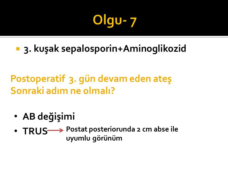 Olgu- 7 3. kuşak sepalosporin+Aminoglikozid