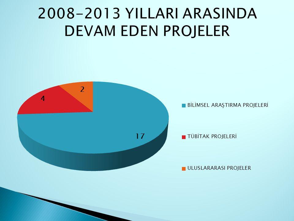 2008-2013 YILLARI ARASINDA DEVAM EDEN PROJELER