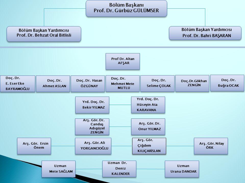 Bölüm Başkanı Prof. Dr. Gürbüz GÜLÜMSER