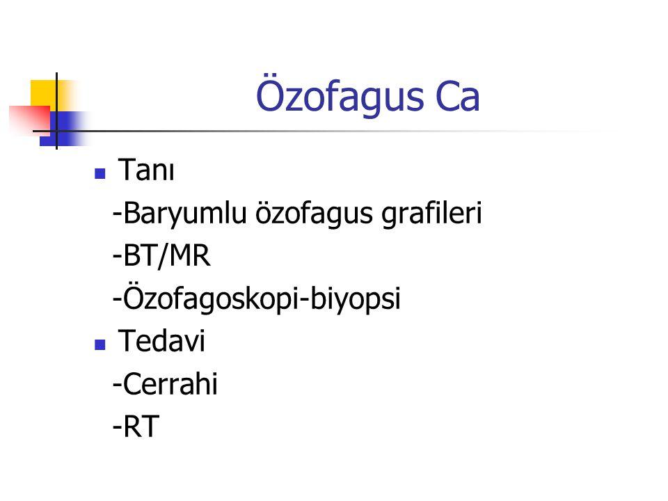 Özofagus Ca Tanı -Baryumlu özofagus grafileri -BT/MR
