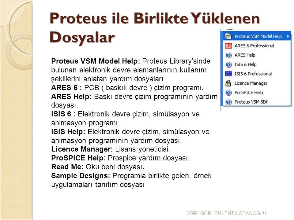 Proteus ile Birlikte Yüklenen Dosyalar