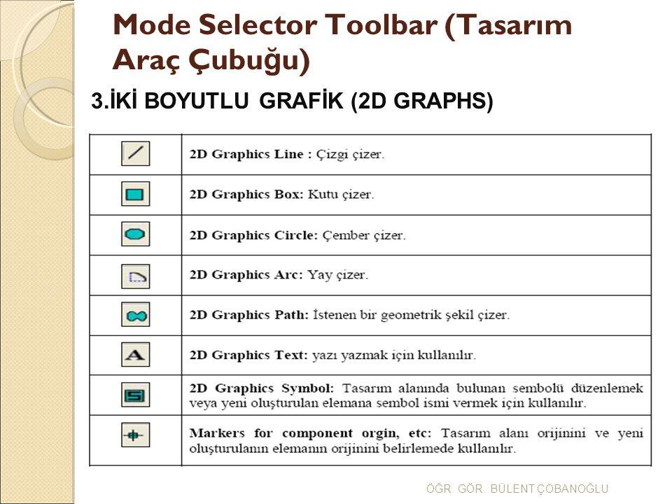Mode Selector Toolbar (Tasarım Araç Çubuğu)