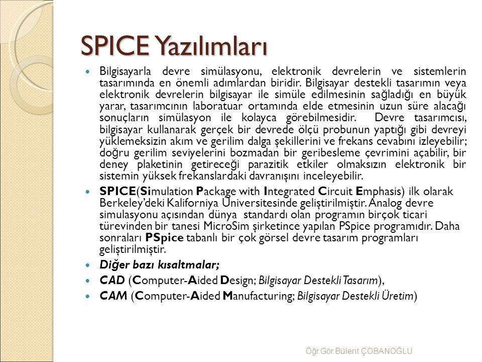 SPICE Yazılımları