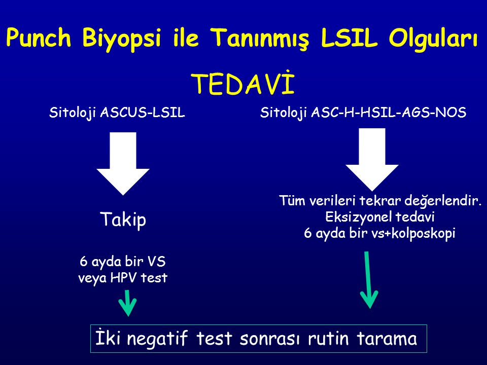 Punch Biyopsi ile Tanınmış LSIL Olguları