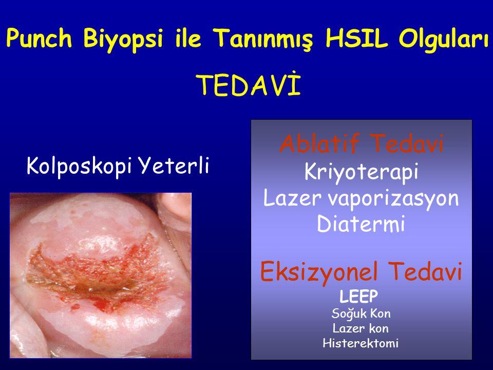 Punch Biyopsi ile Tanınmış HSIL Olguları