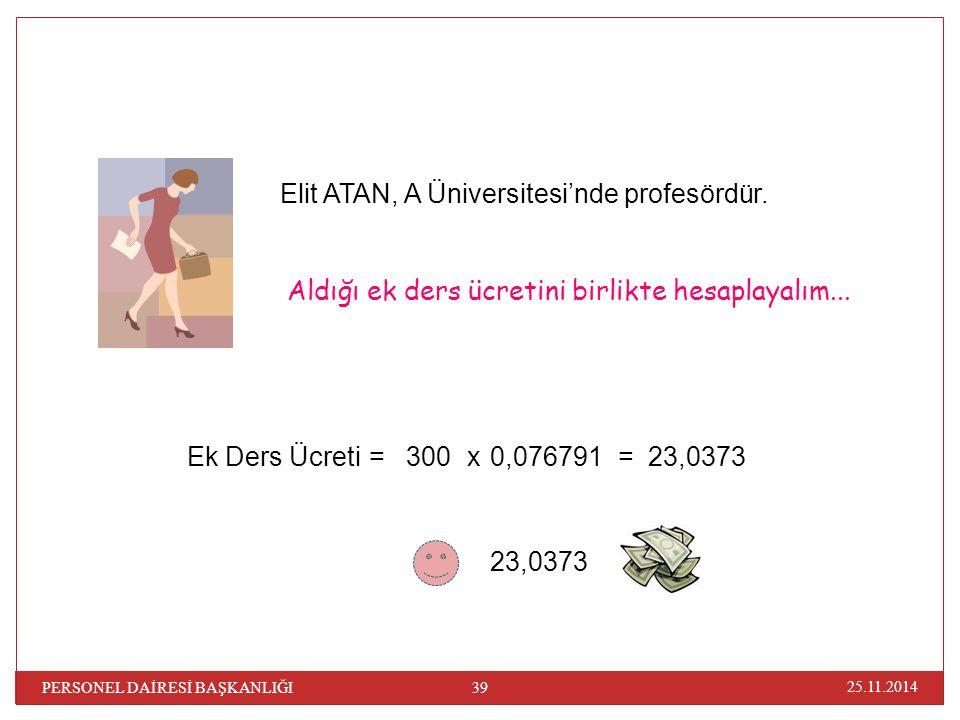 Elit ATAN, A Üniversitesi'nde profesördür.