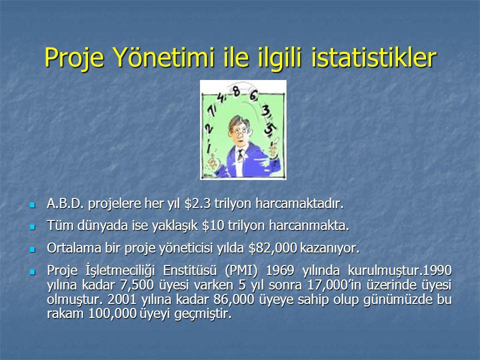 Proje Yönetimi ile ilgili istatistikler