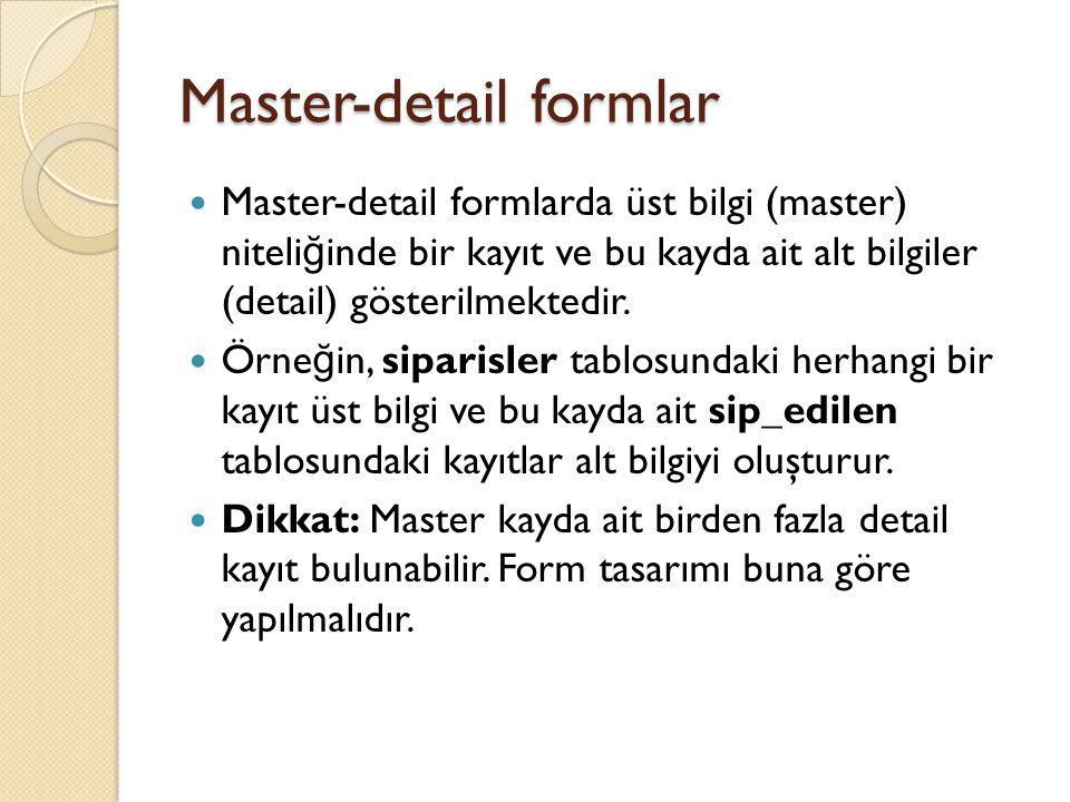 Master-detail formlar