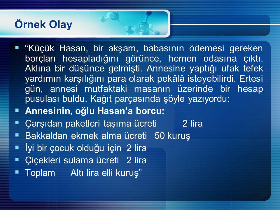 Örnek Olay