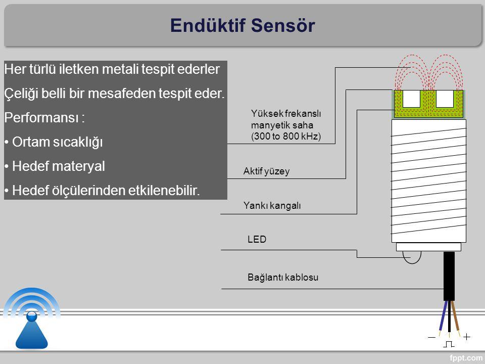 Endüktif Sensör Her türlü iletken metali tespit ederler