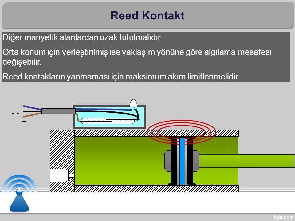 Reed Kontakt Diğer manyetik alanlardan uzak tutulmalıdır