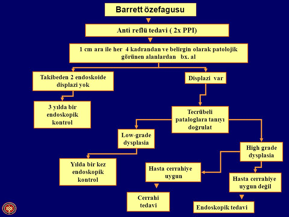 Barrett özefagusu Anti reflü tedavi ( 2x PPI)