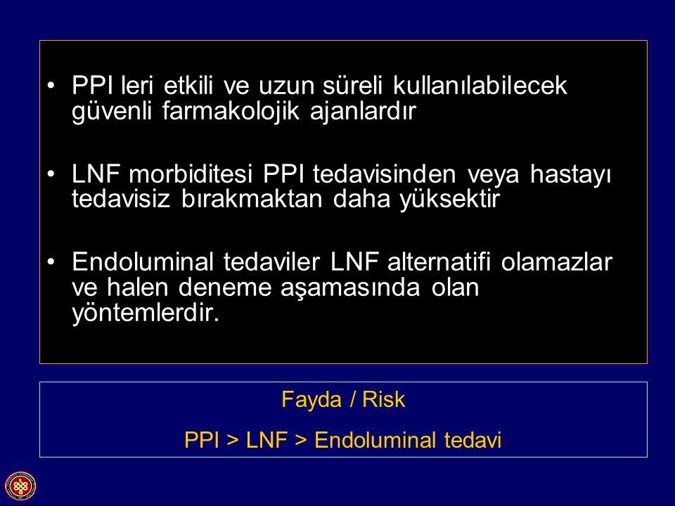 PPI > LNF > Endoluminal tedavi
