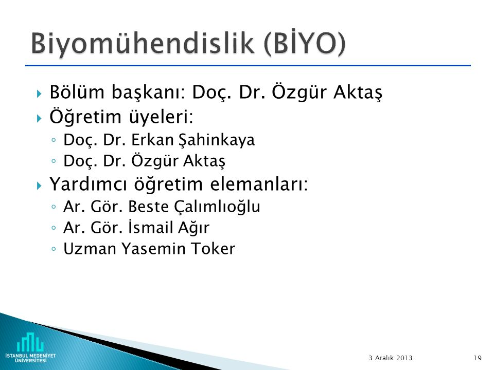 Biyomühendislik (BİYO)