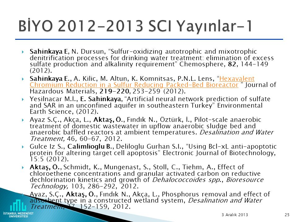 BİYO 2012-2013 SCI Yayınlar-1