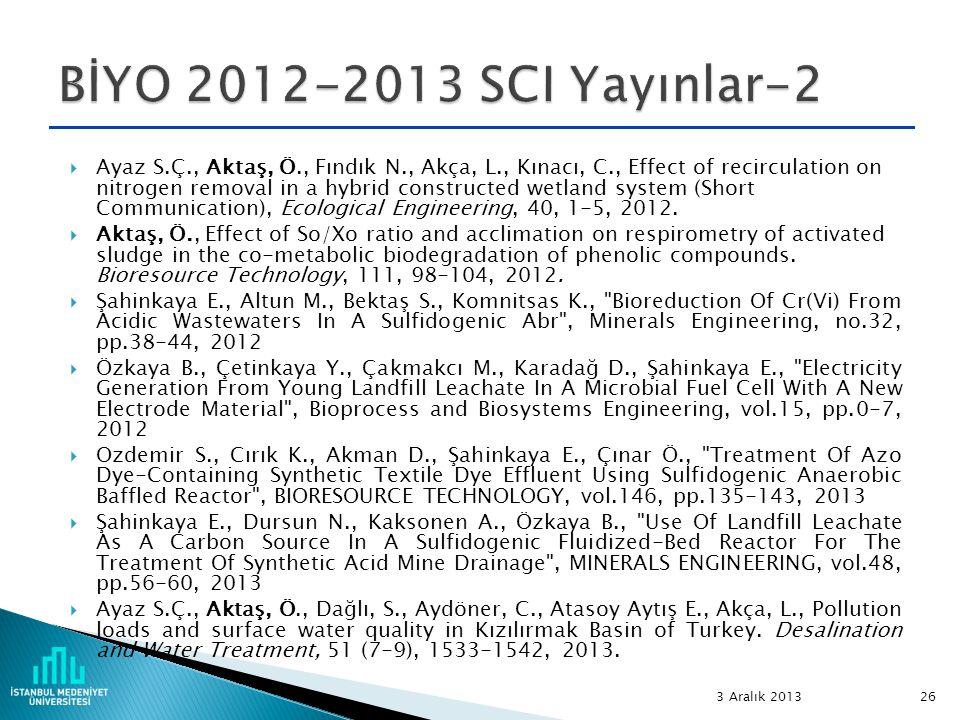 BİYO 2012-2013 SCI Yayınlar-2