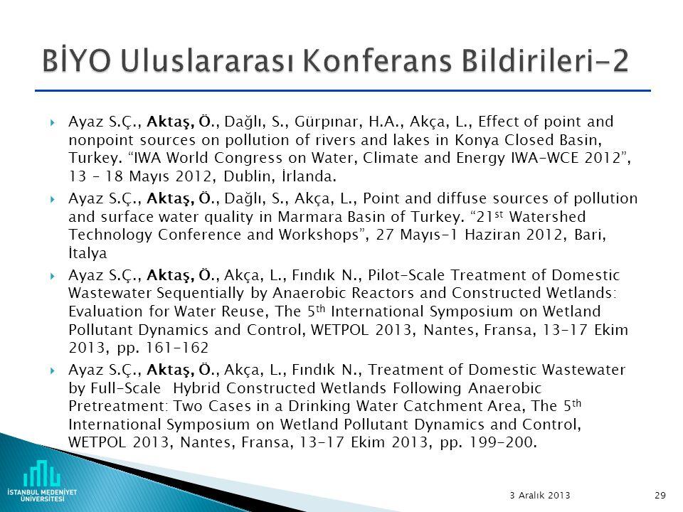 BİYO Uluslararası Konferans Bildirileri-2