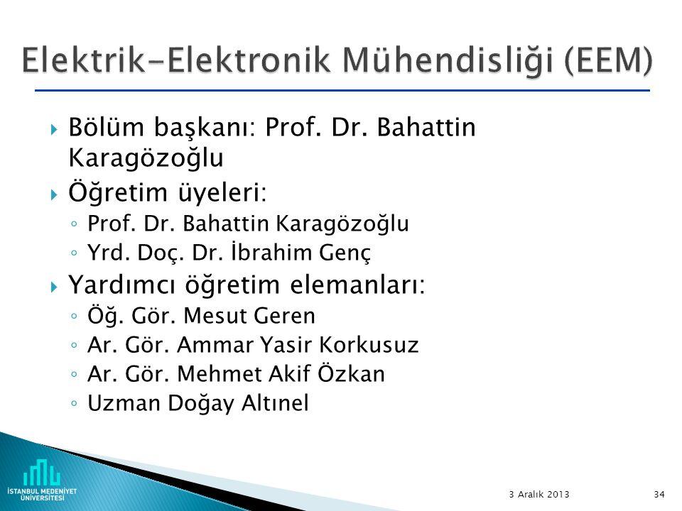 Elektrik-Elektronik Mühendisliği (EEM)