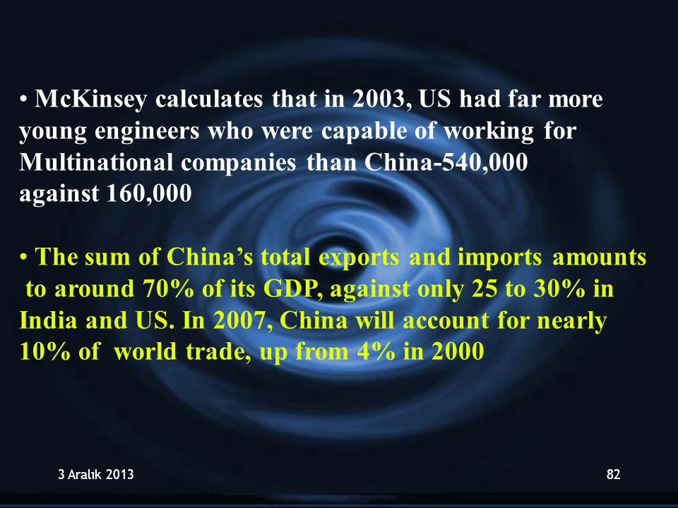 McKinsey calculates that in 2003, US had far more