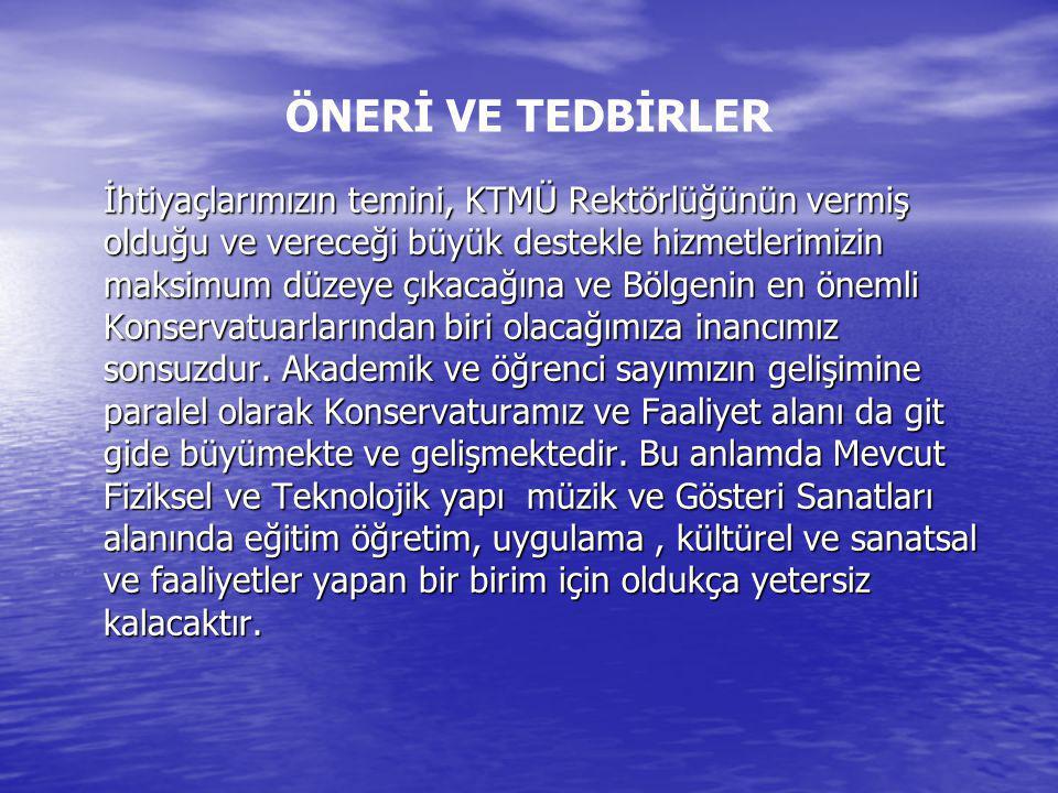 ÖNERİ VE TEDBİRLER