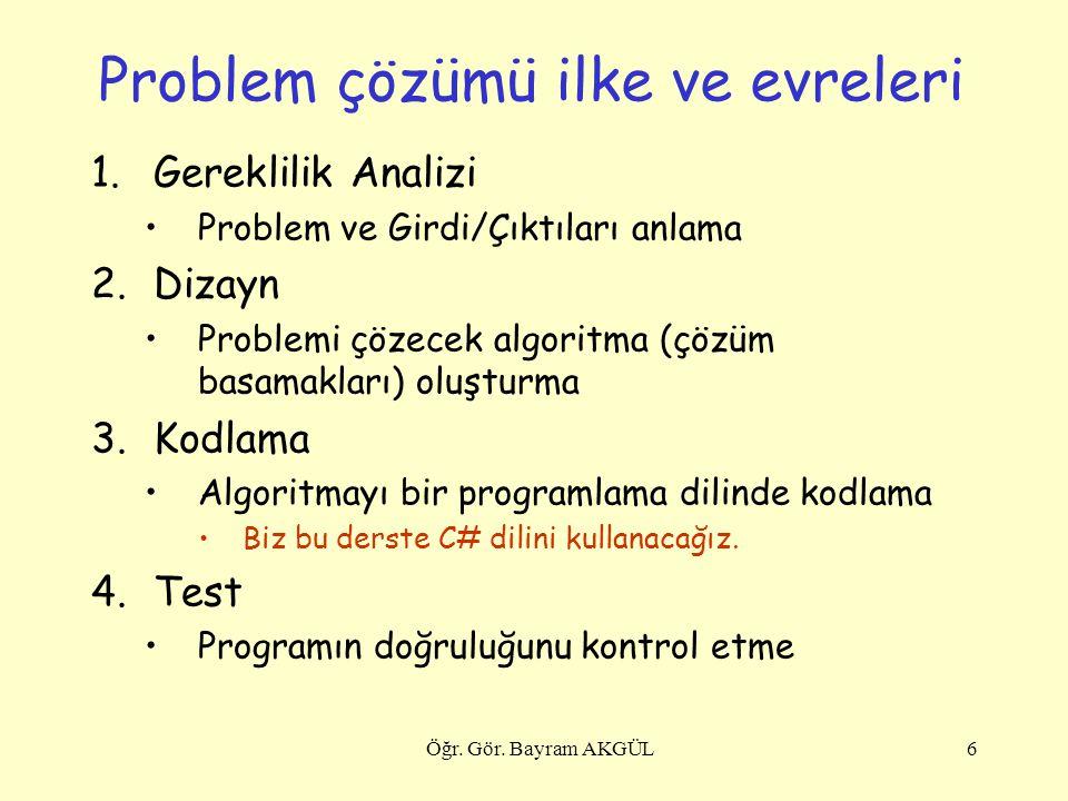 Problem çözümü ilke ve evreleri