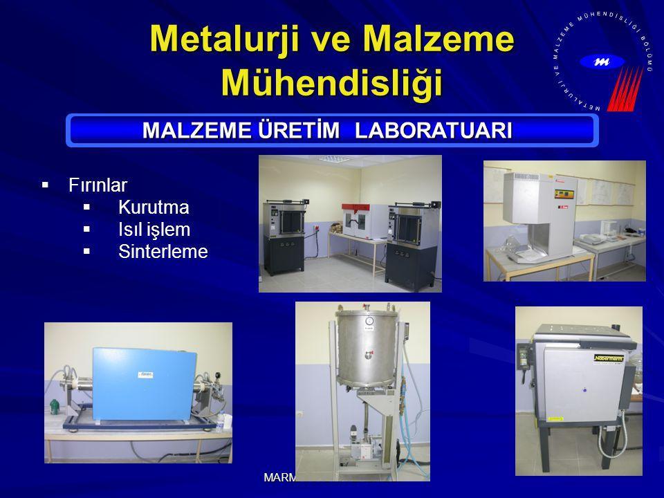 Metalurji ve Malzeme Mühendisliği