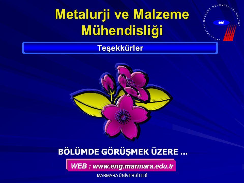 Metalurji ve Malzeme Mühendisliği BÖLÜMDE GÖRÜŞMEK ÜZERE ...