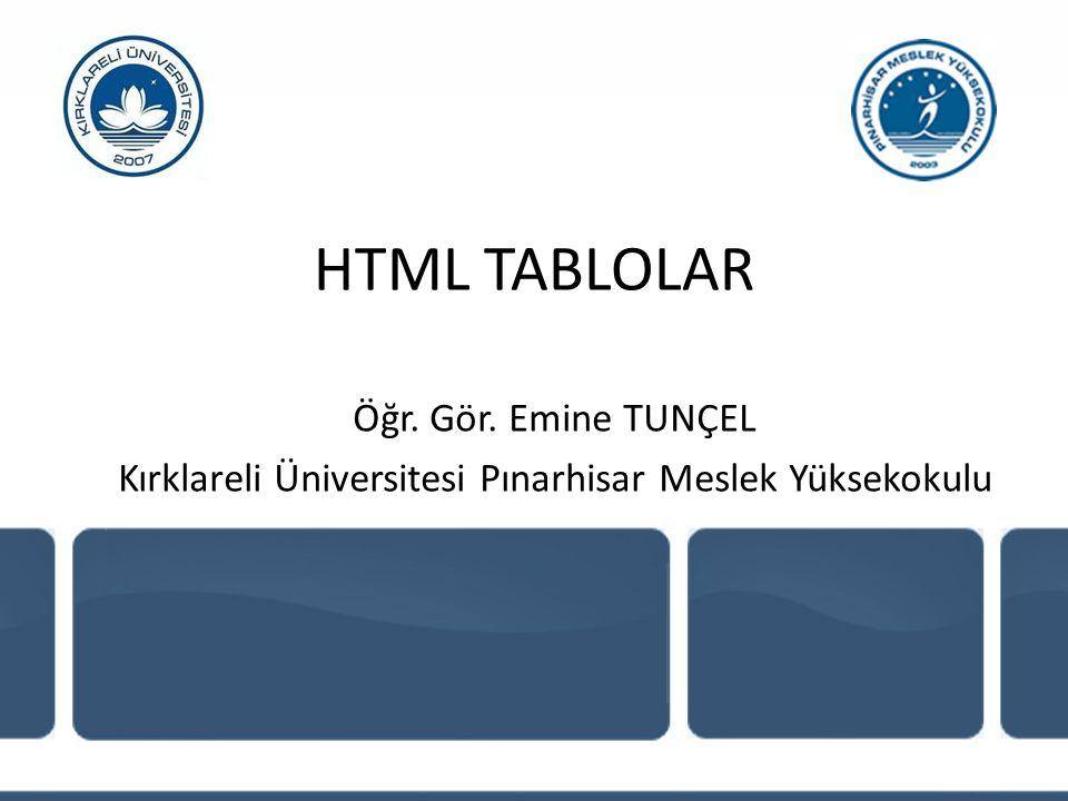 Kırklareli Üniversitesi Pınarhisar Meslek Yüksekokulu