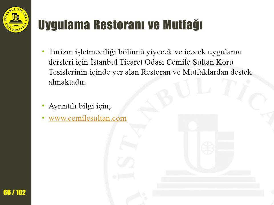 Uygulama Restoranı ve Mutfağı