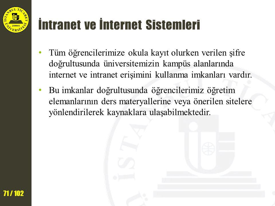 İntranet ve İnternet Sistemleri