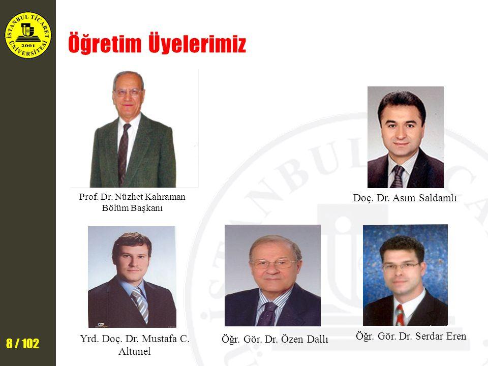 Öğretim Üyelerimiz Doç. Dr. Asım Saldamlı Öğr. Gör. Dr. Serdar Eren