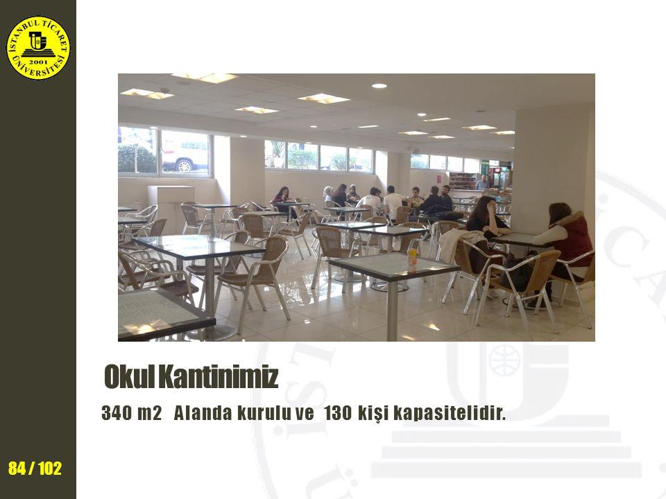 Okul Kantinimiz 340 m2 Alanda kurulu ve 130 kişi kapasitelidir.