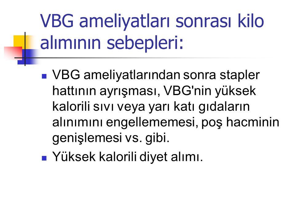 VBG ameliyatları sonrası kilo alımının sebepleri: