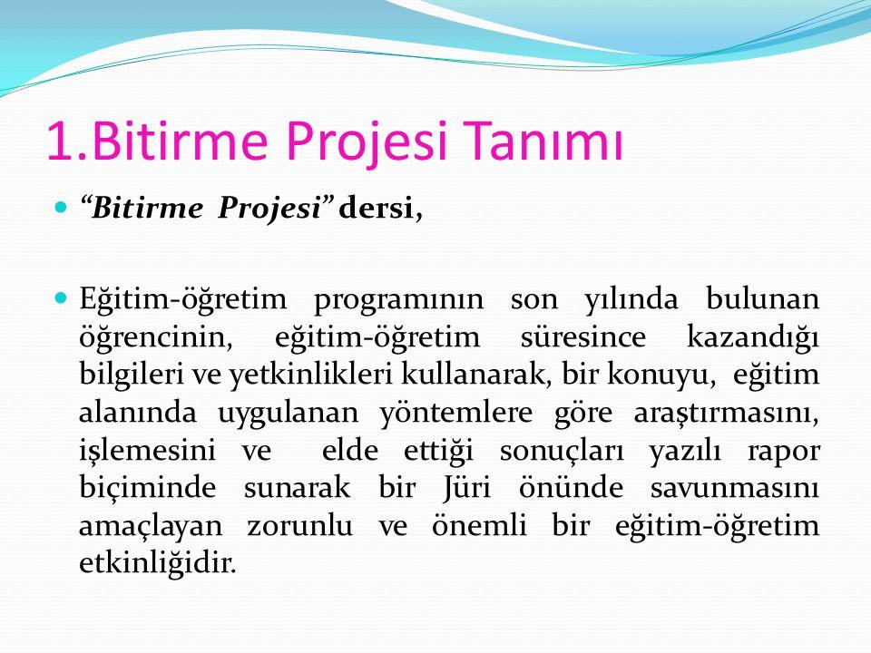 1.Bitirme Projesi Tanımı