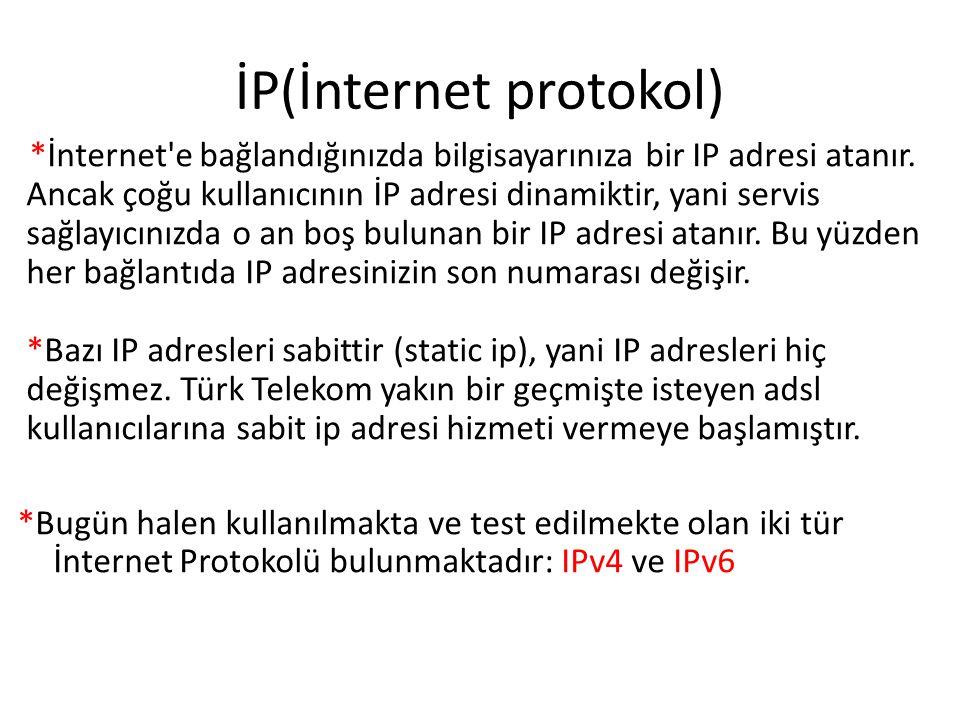 İP(İnternet protokol)