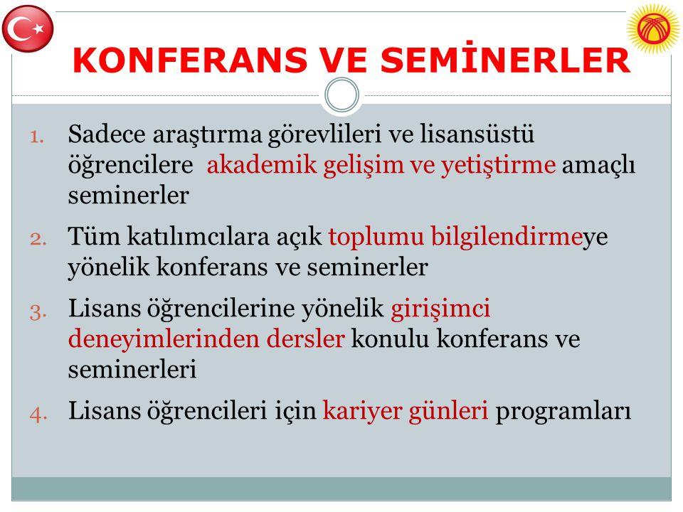 KONFERANS VE SEMİNERLER
