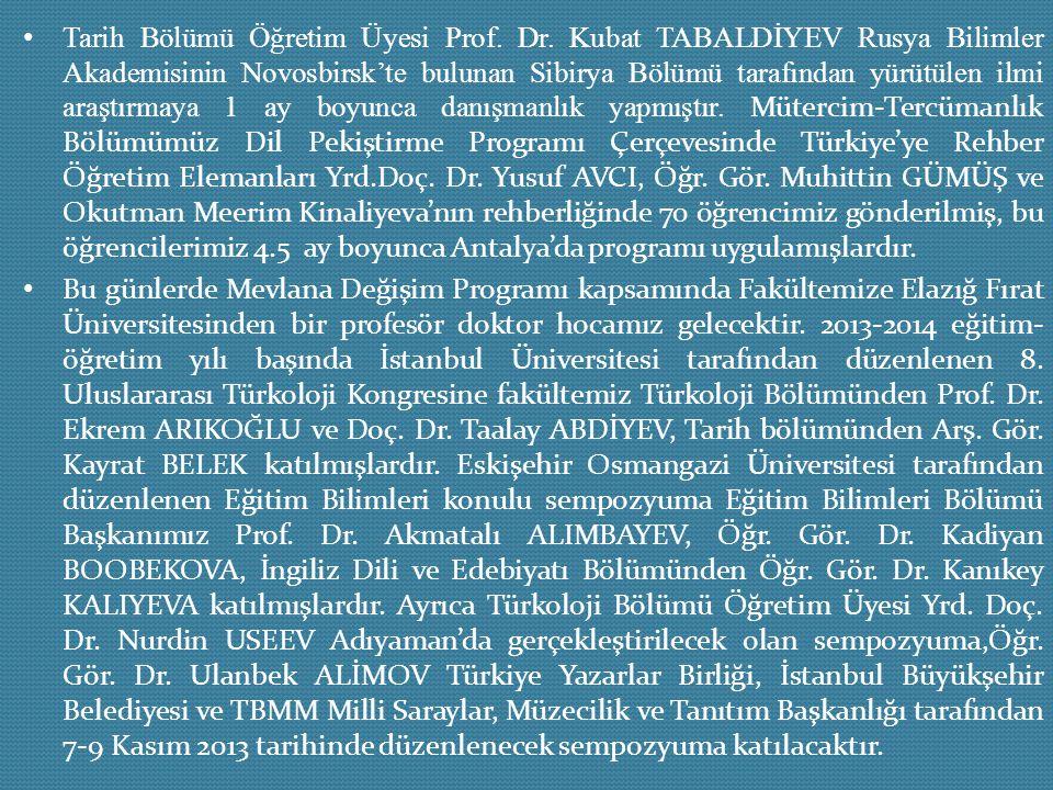 Tarih Bölümü Öğretim Üyesi Prof. Dr