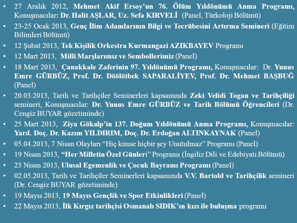 27 Aralık 2012, Mehmet Akif Ersoy'un 76