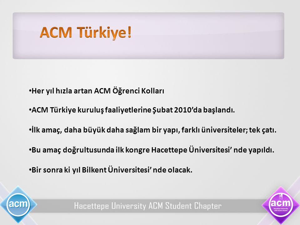 ACM Türkiye! Her yıl hızla artan ACM Öğrenci Kolları