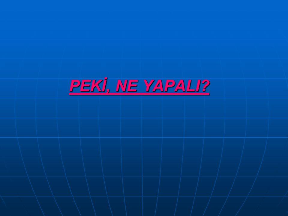 PEKİ, NE YAPALI