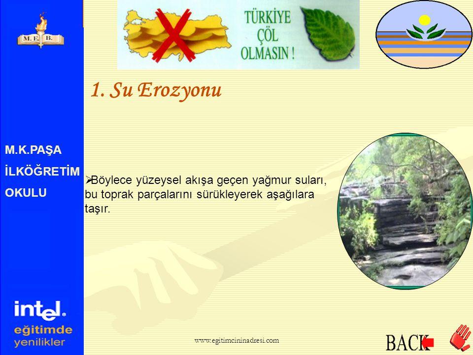 1. Su Erozyonu M.K.PAŞA İLKÖĞRETİM OKULU