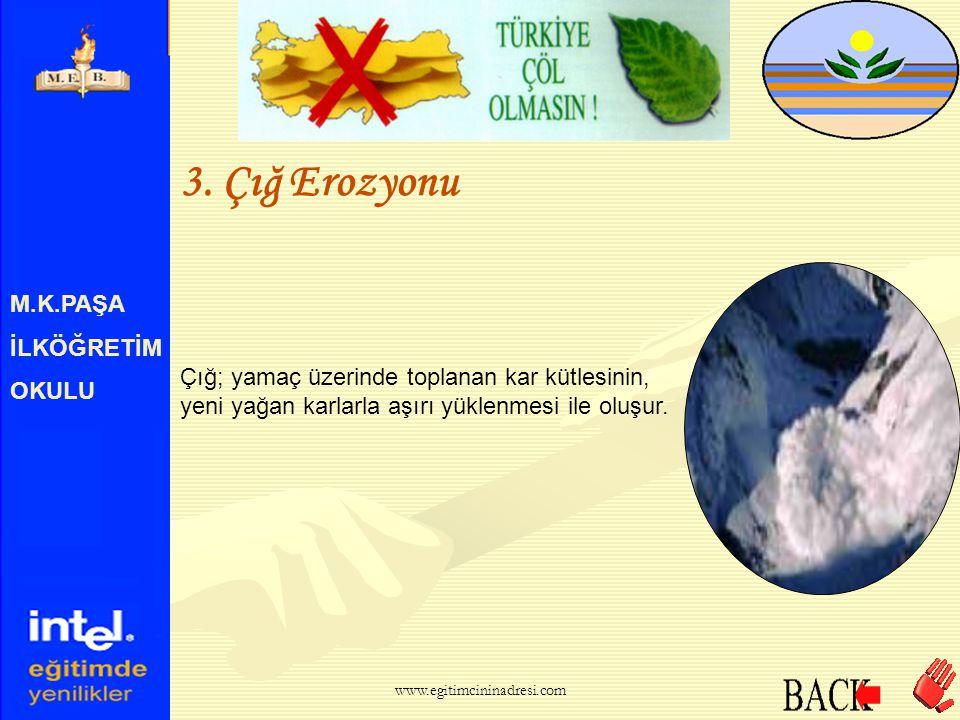 3. Çığ Erozyonu M.K.PAŞA İLKÖĞRETİM OKULU