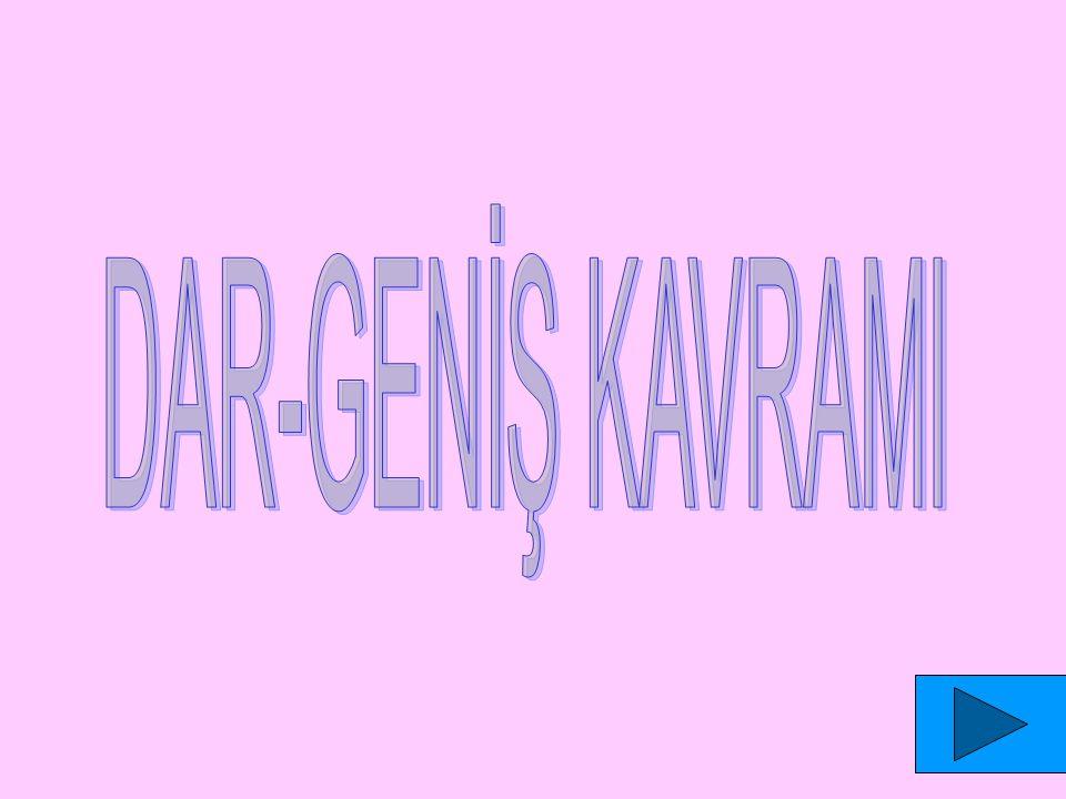 DAR-GENİŞ KAVRAMI