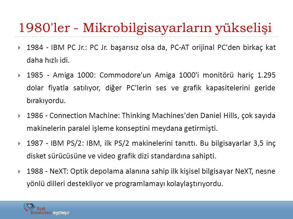 1980 ler - Mikrobilgisayarların yükselişi