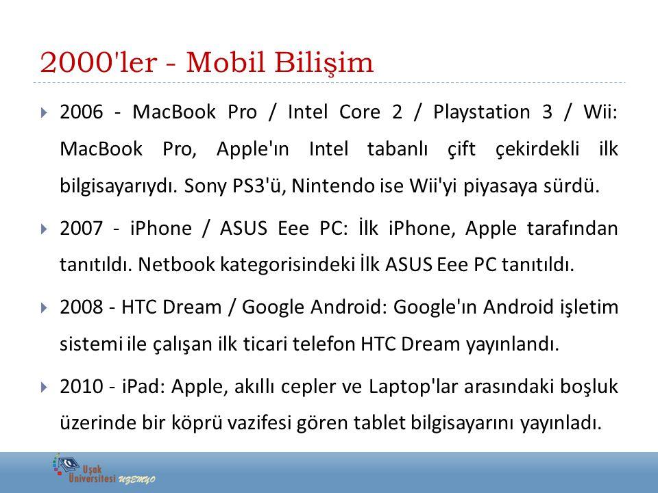2000 ler - Mobil Bilişim