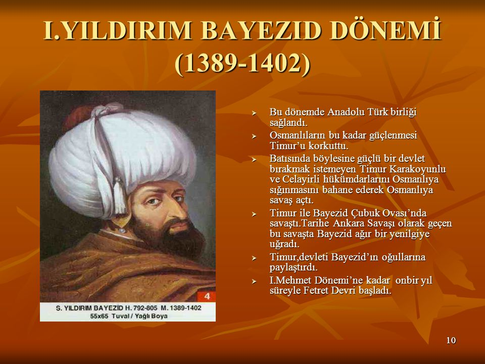I.YILDIRIM BAYEZID DÖNEMİ (1389-1402)