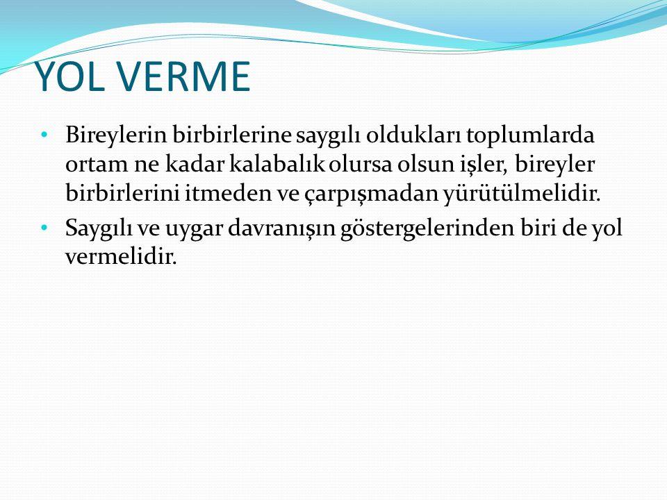 YOL VERME