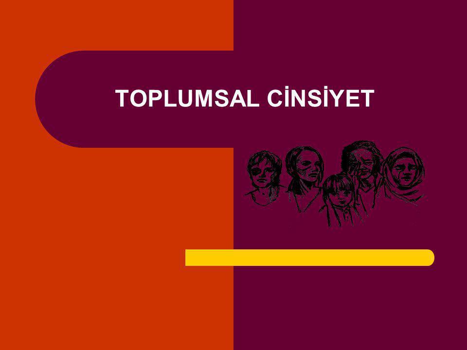 TOPLUMSAL CİNSİYET