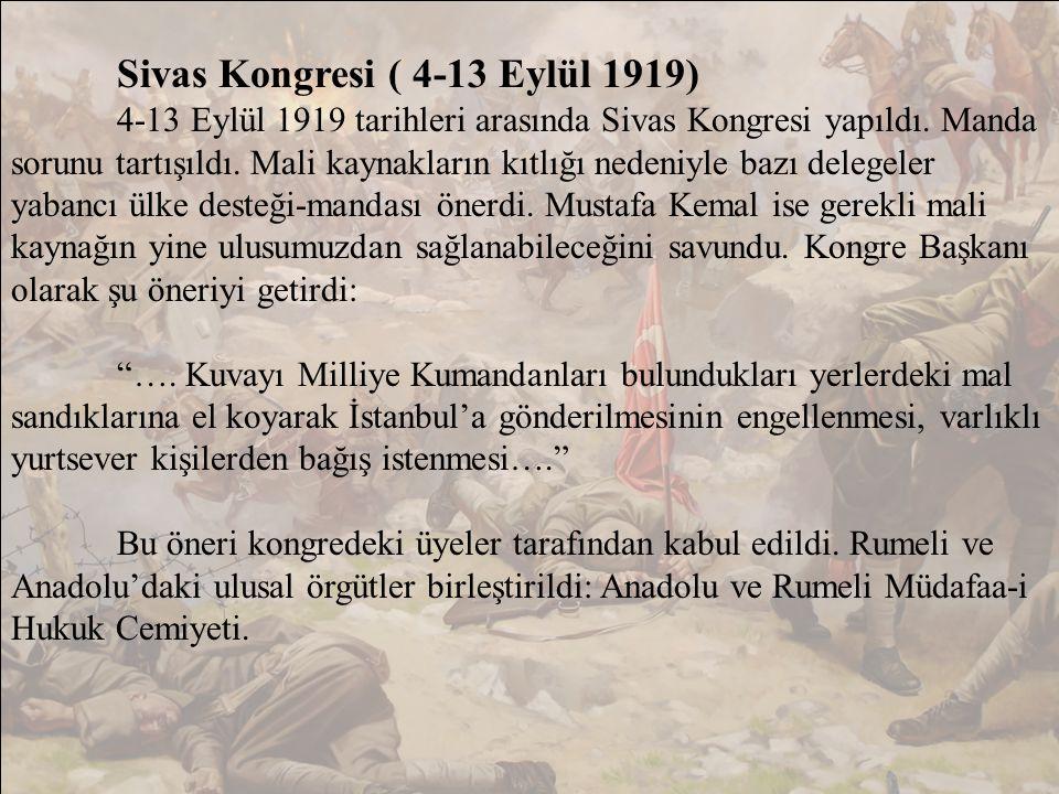 Sivas Kongresi ( 4-13 Eylül 1919)